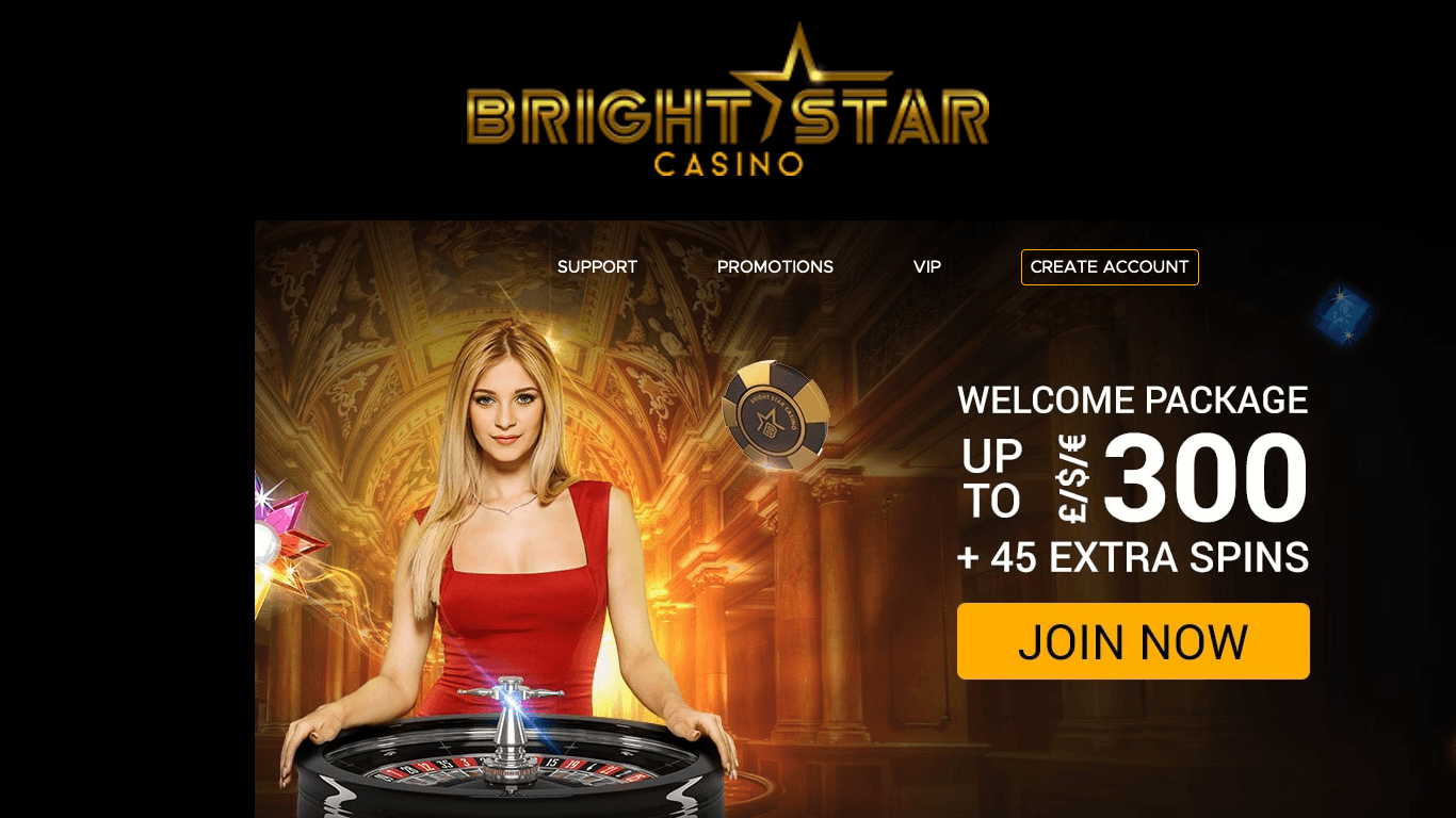 Bright Star Casino on laptop