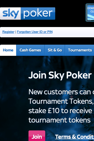 Sky Poker Mobile Image