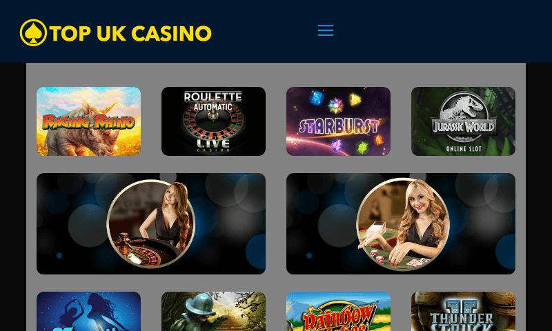 Top UK Casino on tablet