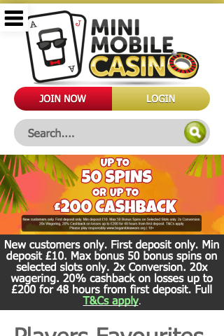 Mini Mobile Casino Mobile Image