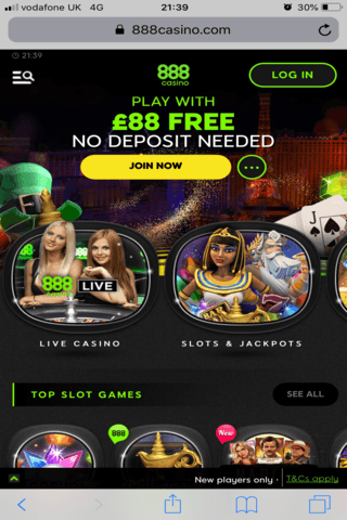 888 Casino Mobile Image