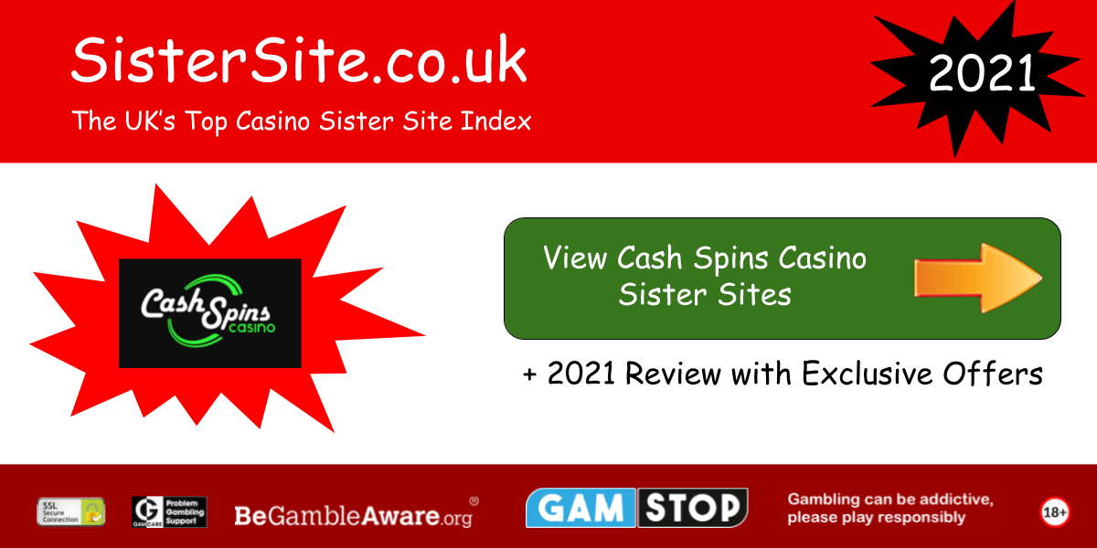 cash spins casino sister sites 2021