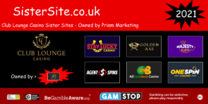 list of club lounge casino sister sites 2021